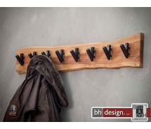 Garderobe Baumkante Edge Massivholz Akazie mit 8 Haken 90 cm x 15 cm
