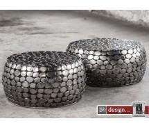 Jackstone 2 Satz Tisch Flachkiesel aus Metall ab 55 cm Rund