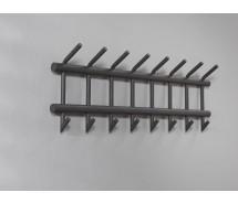 Carry Line Garderobe aus Rundrohr dunkelgrau  matt 90 x 35 cm