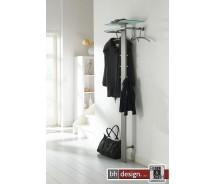 Carry Line Garderobe aus Edelstahl mit Hutablage aus Sicherheitsglas