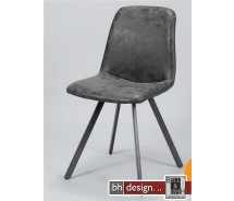 Cobra Designstuhl by bhdesign im Vintage Look, Schwarz, alternativ Natur