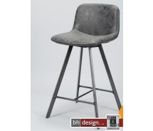Cobra Designbarhocker by bhdesign im Vintage Look, Schwarz, alternativ Natur