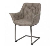 Cluby Freischwinger Stuhl mit Armlehnen und Vintage Beinen in verschiedenen Farben