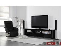 Silas Fernsehschrank Hochglanz schwarz oder weiss wählbar 190 x 50 cm (Extreme Gloss)