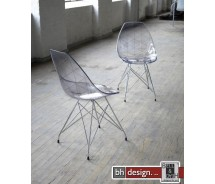 Glamour Designstuhl transparent by Canett Design