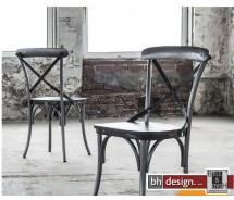Rift Designstuhl Manghoholz massiv und Stahlgestell 4-er Set