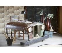 Jeep Schreibtisch  by Canett Design  recycelt Akazie in Jeepform 145 x 90 x  H 75 cm