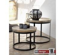 Pablo 2 Satz Tisch by Canett Design Mango massiv 53 cm Rund