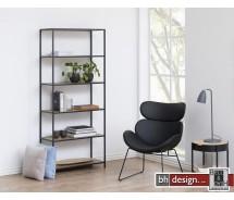 Bücherregal Seaford, Wildeiche Melamin, 4 Böden 77 x  35 x H 185 cm
