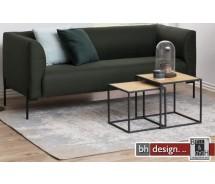 2 -Satz Tisch, Couchtisch, Beistelltisch  Seaford, Wildeiche Melamin, 50 x 50 x H 45 cm