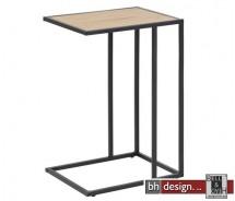 Laptop-Tisch, Beistelltisch Ecktisch Seaford, Wildeiche Melamin, 43 x 35 x H 63 cm
