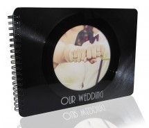 Hochzeitsalbum / Photoalbum - Upcycling aus einer echten (used) Vinyl-Schallplatte, 36 Seiten (18 Blatt)
