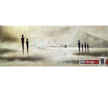 "Einzelgemälde 130 x 50 cm ""People of Gizeh"""