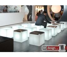 Kubo Inox Designer Hocker