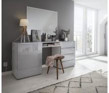 Nolte Frisiertisch, Schminktisch  Alegro Style, 180  x 79 cm, 4 Glasschubkästen, 1 Tür, verschiedene Farben