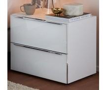 Nolte Möbel Nachtkonsole Alegro Style , 60  x 53 cm, 2 Glasschubkästen, in verschiedenen Farben