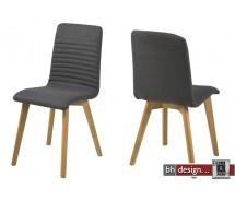 Arosa Designstuhl Stoff und Holzgestell in hellgrau oder anthrazit