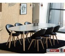 Berlin Esstisch Skandinavien Design, Weiss 170/270 cm ausziehbar mit Naturbeinen