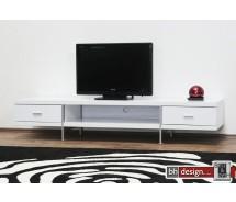 Bonseo TV-Tisch hochglanz weiss 200 x 58 cm