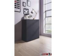 Express Möbel Kommode Carina , 5 Schubkästen, Front verschiedene Glasvarianten, 80 x 100 cm