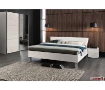 Express Möbel Bett Carina , Polsterrückenteil Weiss,  verschiedene Farben und Größen ab 200 x 90 cm
