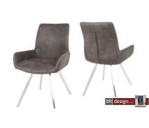 """Club Stuhl """"Mali"""" by Canett Design in Buffalo Anthrazit und  Edelstahlbeinen"""