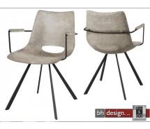 Corona Designstuhl mit Armlehne by Canett Design im Vintage Look in verschiedenen  Farben