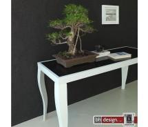 Elegance Konsolentisch Schwarzglas 140 x 50 cm