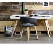 Estelle Schreibtisch weiss seidenmatt, 3 Schubladen 140 x 60 cm