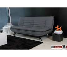 Face Bettcouch Lederlook schwarz