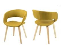 Grace Designstuhl im Retrolook und Naturbeinen in 2 Farbvarianten