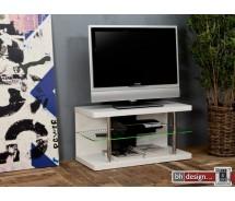 Anthony TV-Tisch  hochglanz weiss 90 x 40 cm mit LED Beleuchtung