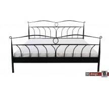 Line Bett schwarz lackiert in verschiedenen Größen
