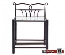Line Nachttisch schwarz lackiert 50 x 37 cm