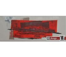 """Einzelgemälde 130 x 50 cm """"Red stone"""""""