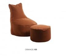 Sakwa Sitzsack Comfort & Pouf,  Stoff Linea incl. Fußablage, verschiedene Farben