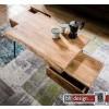 Edge Couchtisch Baumkante Akazienholz massiv und Schubladen  130 x 60 x  H 45 cm