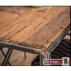 Shabby Line  Esstisch Massiv Sheesham Holz, grained Gestell verwittert ab 150 cm bis 240 cm